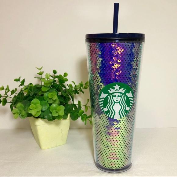 Starbucks 2020 Purple / Blue Sequin Venti Tumbler